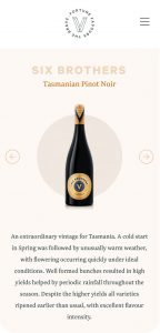Rock Agency Vandenberg Wines Mobile Design