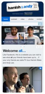 Rock Agency - Hamish & Andy Project Mobile